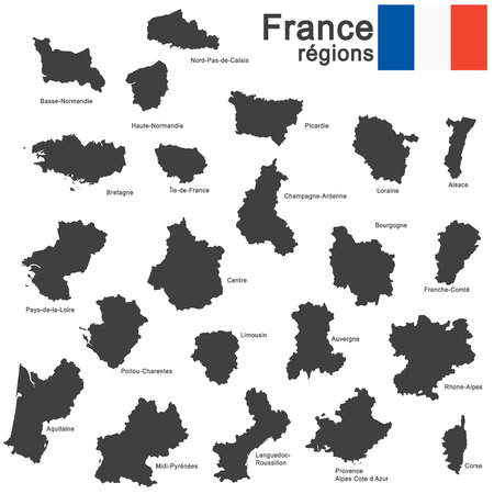 corsica: silhouettes of country France and the regions