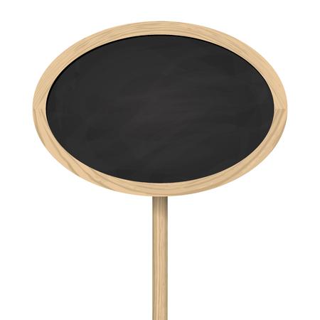 Leere ovale Tafel mit Holzrahmen Standard-Bild - 38702547