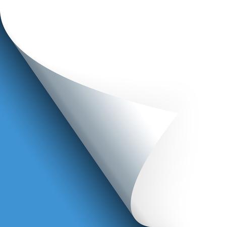 papel entregado con el fondo azul