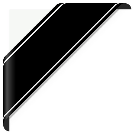 luto: concepto de luto con la bandera conciencia negro sobre blanco