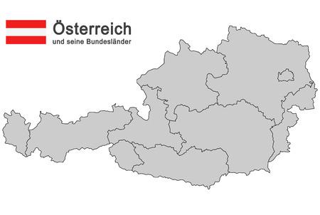 チロル: オーストリアの連邦国家のシルエット