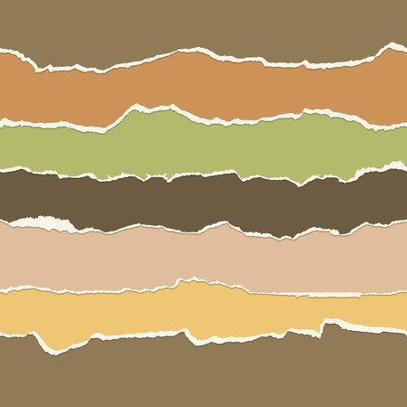 seamless paper: collection of seamless paper rips multi colored