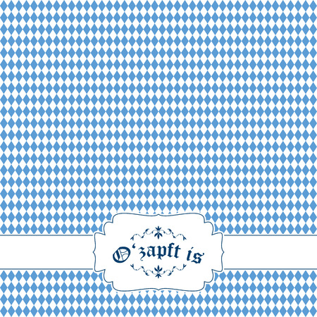 solemnity: german Oktoberfest background with banner and text O