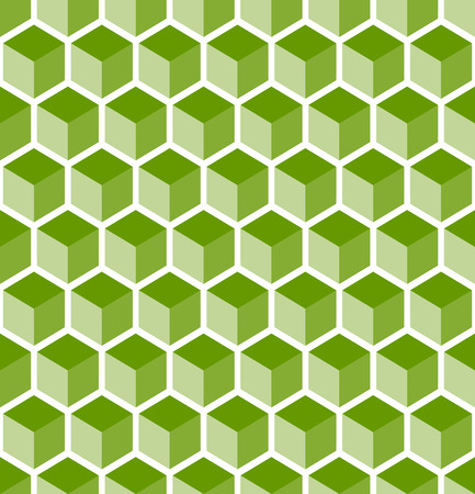 geometrically: abstract background with seamless green cubes pattern