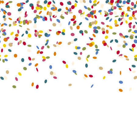 wedding parade: colored falling confetti seamless background for carnival party