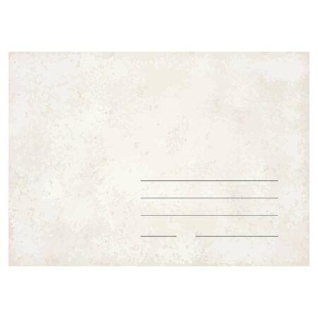 old envelope: template vector of an old vintage envelope
