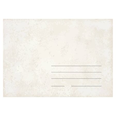 vintage envelope: vector de la plantilla de un sobre de �poca antigua