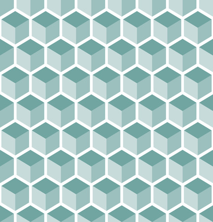 geometrically: abstract background with seamless blue cubes pattern