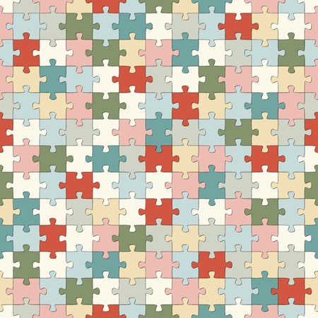 cohesion: seamless puzzle background with different pastel colors