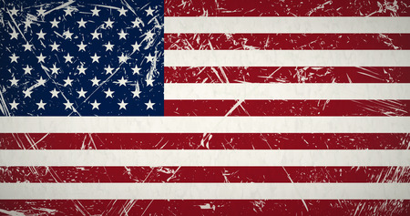 us grunge flag: vector of retro grunge flag of the united states