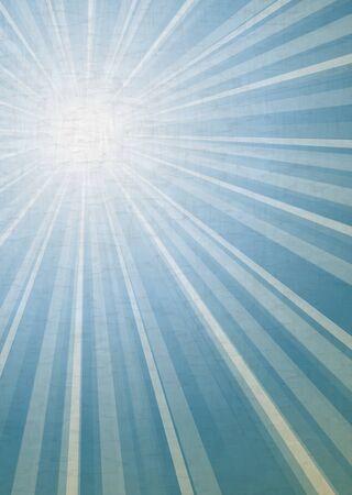 illustration of retro grunge light rays background