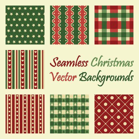 christmas seamless vector backgrounds Vektorové ilustrace