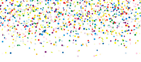 childrens birthday party: colored falling confetti seamless background for carnival party