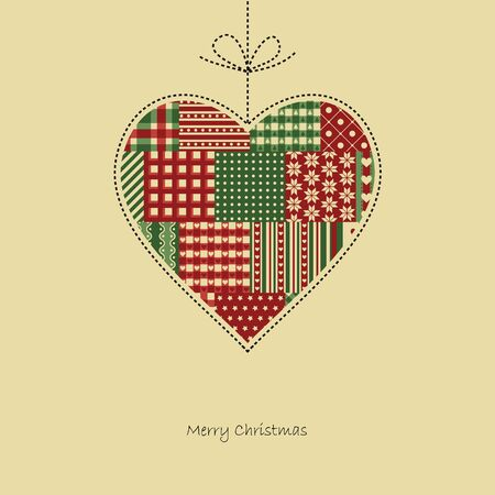 advent candles: heart christmas card vector