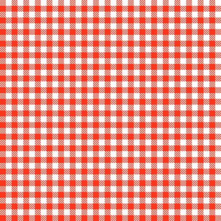 延々 と赤の市松模様テーブル クロス パターン
