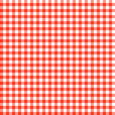 endlessly: Checkered tablecloths patterns RED Endlessly Illustration