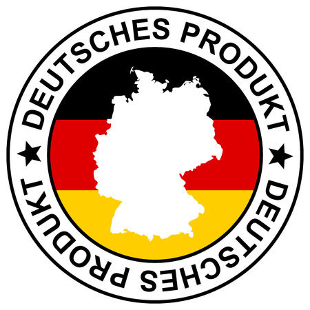 Stamp German goods in German Illustration