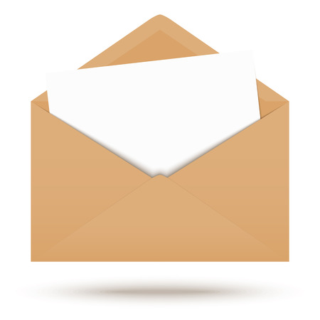 urgently: Colored envelope with white note
