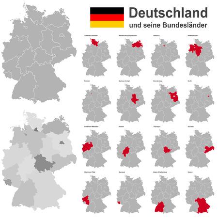 欧州の国ドイツと連邦国家  イラスト・ベクター素材