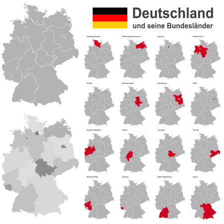 Europees land Duitsland en de deelstaten