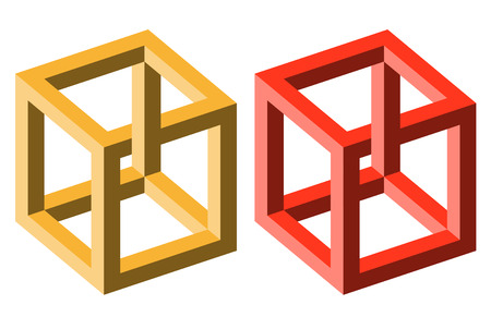 delusion: little collection of illustrated colored optical illusions