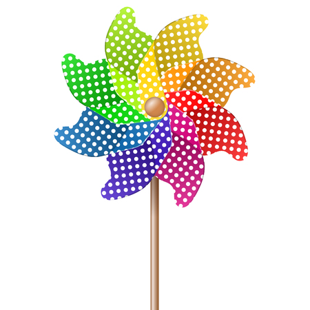 summer toy pin wheel with eight different colors