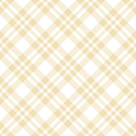 seamless yellow colored checkered table cloth background Illustration