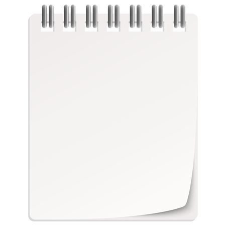 wishlist: empty white calendar with turned over page Illustration