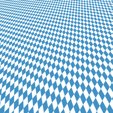 beer garden: Oktoberfest background with blue white checkered three dimensional pattern Illustration