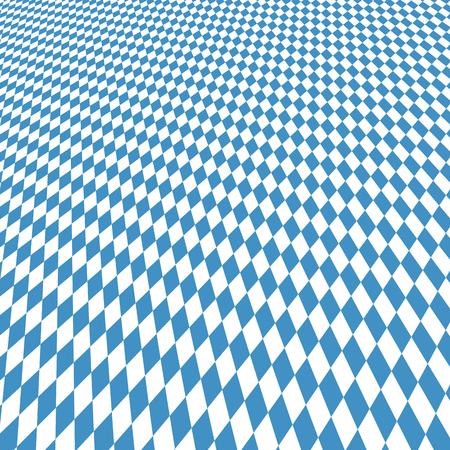 blau wei�: Oktoberfest Hintergrund mit blauen wei� karierten dreidimensionales Muster