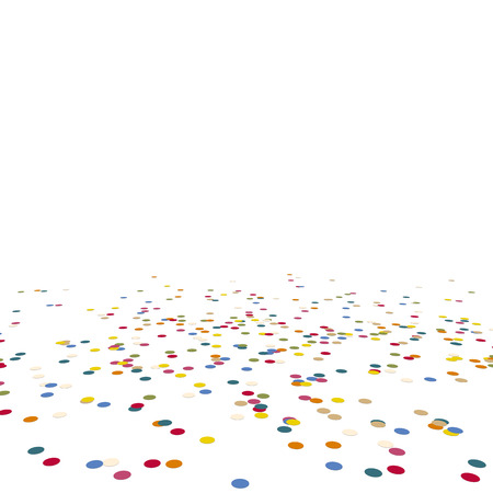 colored lying confetti background for carnival party Иллюстрация