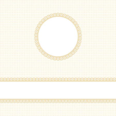 banner and empty patch on yellow colored checkered background
