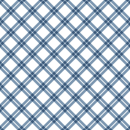 country kitchen: abstract vintage checkered table cloth background colored blue Illustration