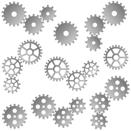 symbolism: collection of gray gears for cooperation or teamwork symbolism