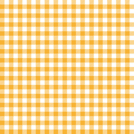 country kitchen: vintage checkered table cloth background colored yellow