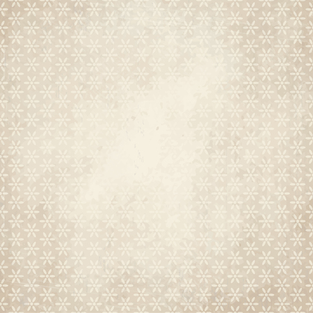 soiled: vector of old vintage paper background with flowers
