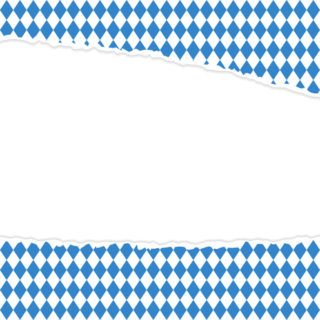 malfunction: vector of ripped open paper German Oktoberfest