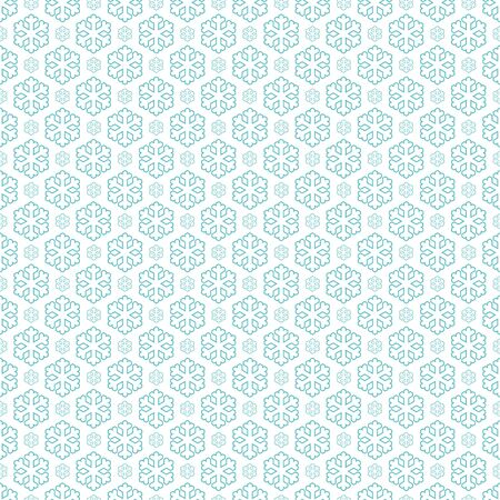 flurry: seamless blue and white colored snowflake background