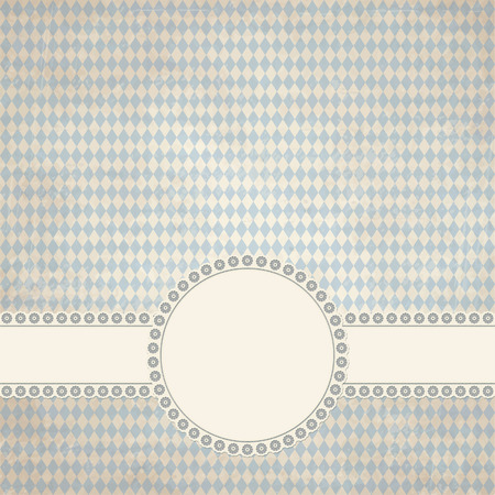 banderole: banner and empty patch on dirty blue colored Oktoberfest grunge background