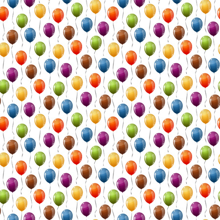 shrove: seamless background with multi colored flying balloons