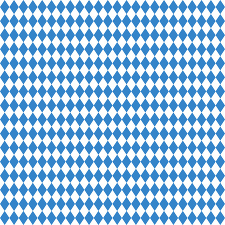 beer garden: blue and white seamless background German Oktoberfest