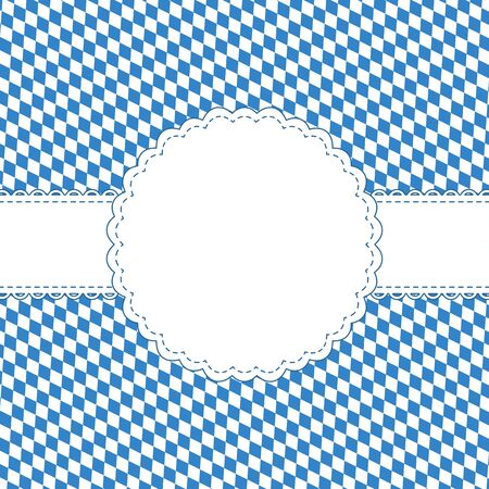 with space for text: Background with Oktoberfest pattern and banner with space for text