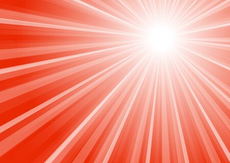 Background with white and red stripes and bright center