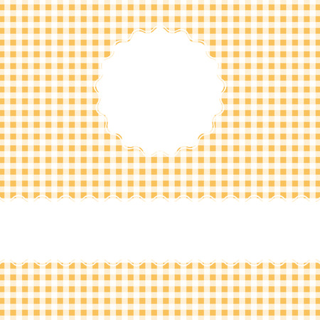 fifties: yellow checkered cover background with banner and space for text