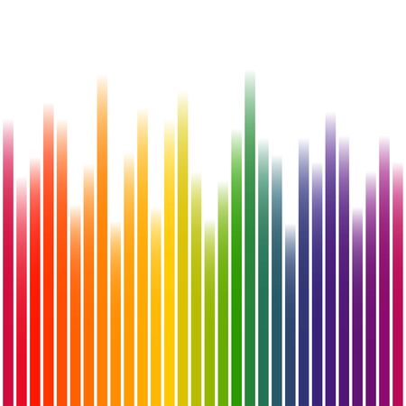 colorfully: Background with wave of multi colored stripes on white