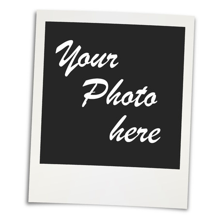 pinning: Old vintage photo with place for own picture Illustration