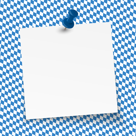 sticky paper: little sticky paper with pin needle on German Oktoberfest background
