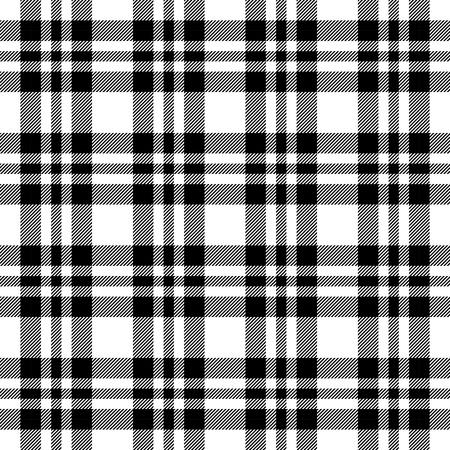cloths: seamless black checkered table cloths retro pattern Illustration