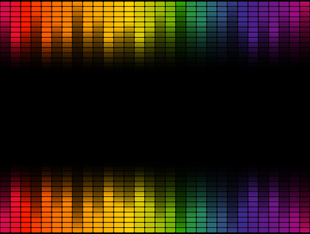 deejay: seamless digital equalizer colorful wave on black background