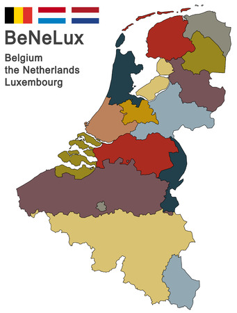 walloon: silhouettes of the netherlands, Luxembourg and Belgium Illustration